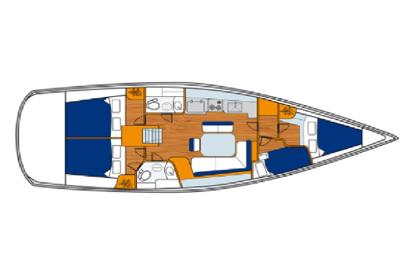 Beneteau Oceanis 43 Layout 1