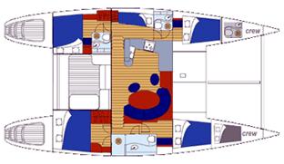 Lagoon-catamaran Lagoon 470 Layout 1