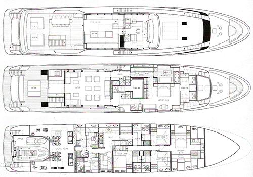 San-lorenzo Yacht 125 Layout 1