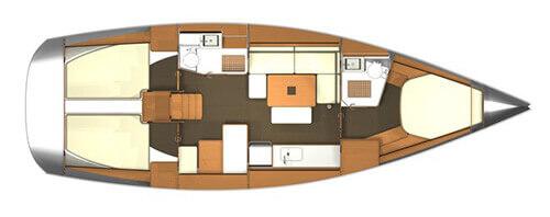 Dufour-yachts Dufour 405 Layout 1