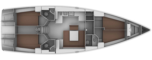 Bavaria-yachts Bavaria 45cruiser Layout 1