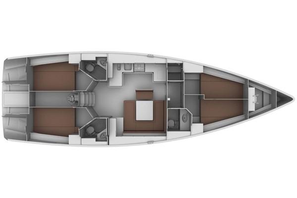 Bavaria-yachts Bavaria 45cruiser Layout 1