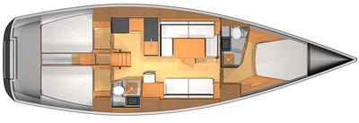 Dufour-yachts Dufour 45e Layout 1