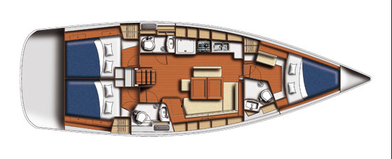 Beneteau Cyclades 43 Layout 1