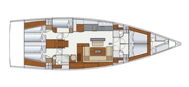 Hanse-yachts Hanse 575 Layout 0