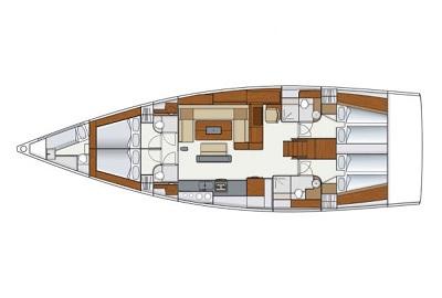 Hanse-yachts Hanse 575 Layout 1