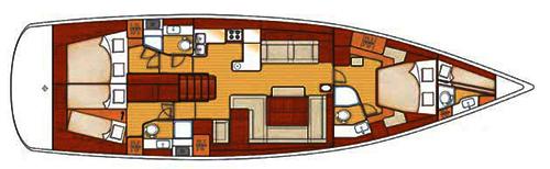 Beneteau Oceanis 58 Layout 1