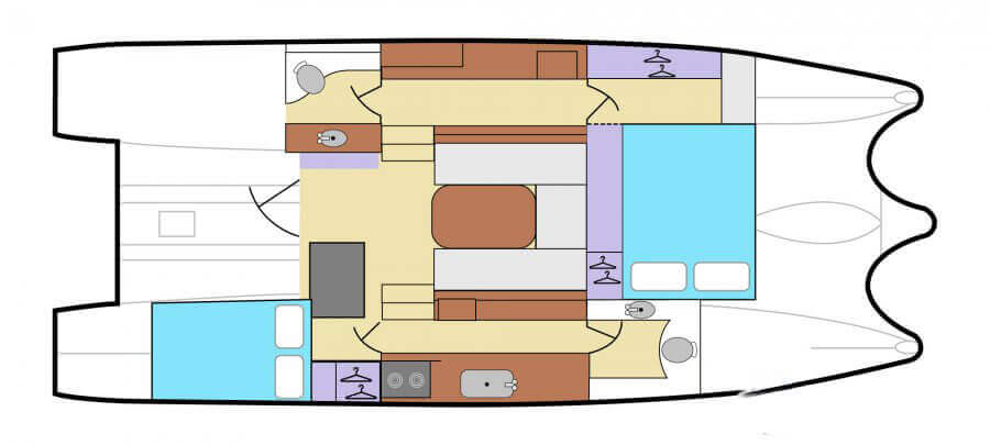 Gemini-catamaran Gemini 35 Layout 1