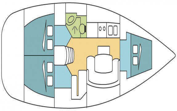 Beneteau Cyclades 393 Layout 1