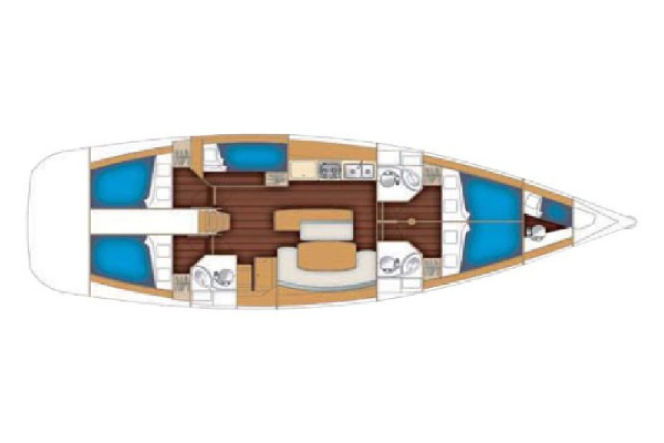 Beneteau Cyclades 50 Layout 1