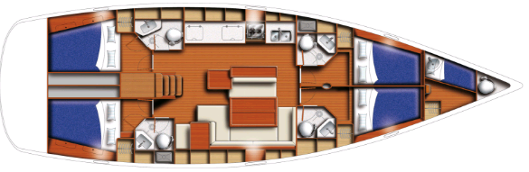 Beneteau Cyclades 50 Layout 0
