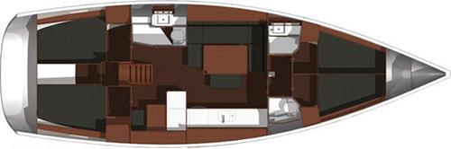 Dufour-yachts Dufour 450 Layout 1