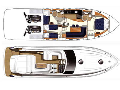 Princess-yachts Princessv 53 Layout 1