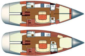 Dufour-yachts Dufour 455 Layout 1