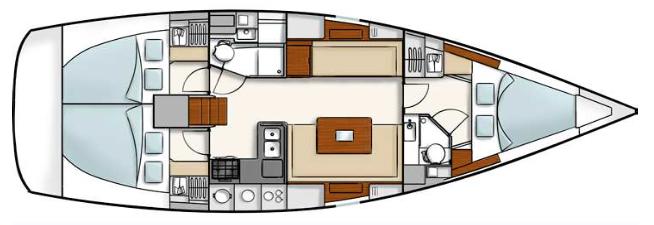 Hanse-yachts Hanse 400 Layout 1