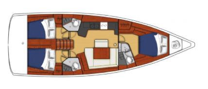 Beneteau Oceanis 45 Layout 1