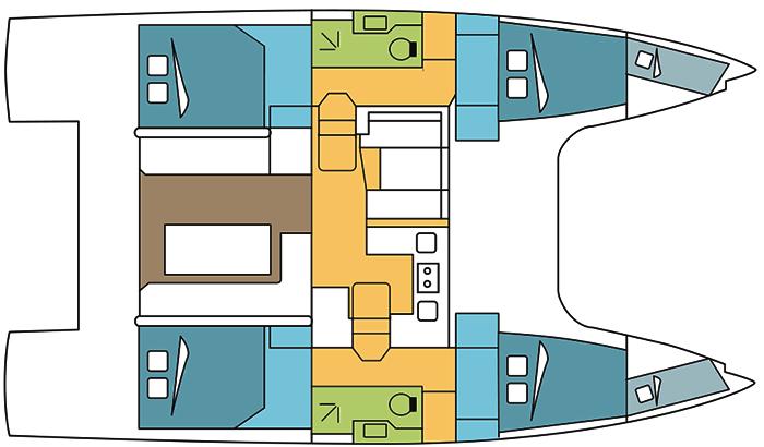 Nautitech-catamaran Nautitech 40open Layout 1