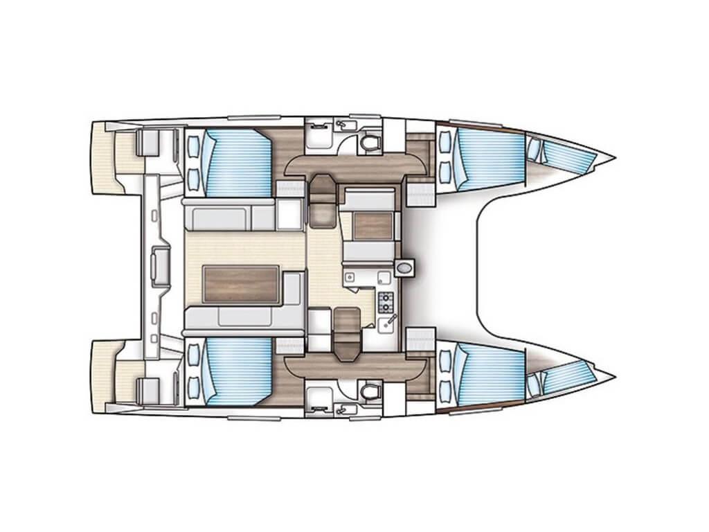 Nautitech-catamaran Nautitech 40open Layout 2