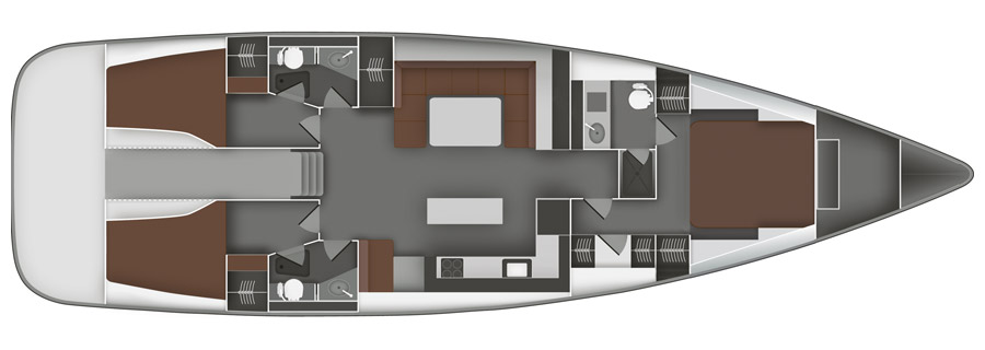 Bavaria-yachts Bavaria 55cruiser Layout 1