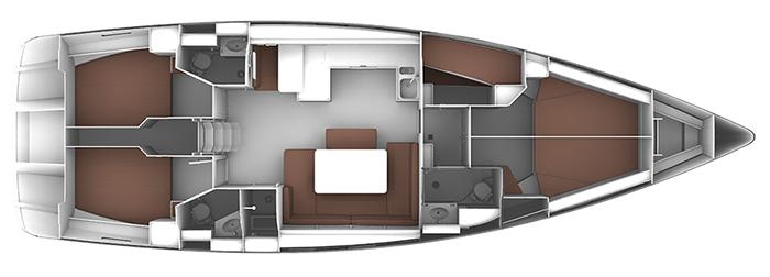 Bavaria-yachts Bavaria 51 Layout 1