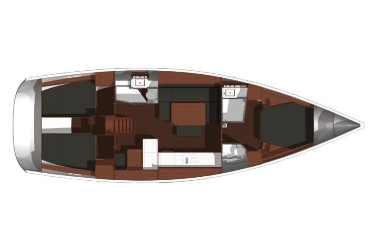 Dufour-yachts Dufour 445 Layout 1