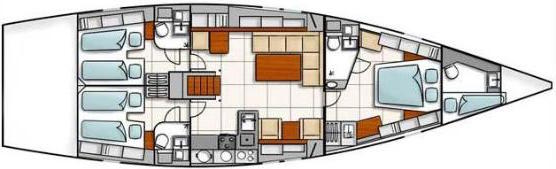 Hanse-yachts Hanse 540 Layout 1