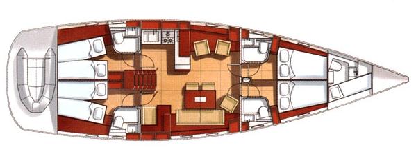 Hanse-yachts Hanse 531 Layout 1