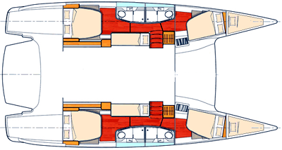 salina 48 catamaran layout