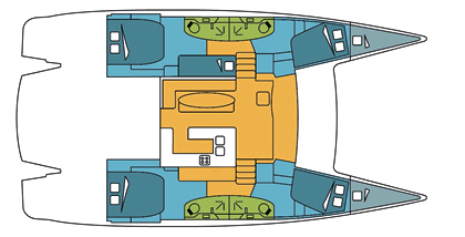 Fountaine-pajot Salina 48 Layout 1