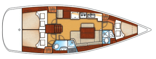 Beneteau Oceanis 40 Layout 1