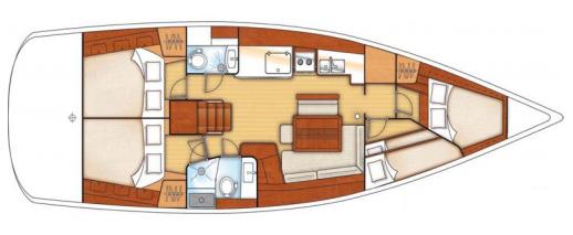Beneteau Oceanis 46 Layout 1