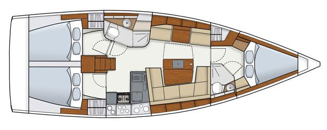 Hanse-yachts Hanse 415 Layout 1