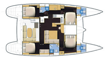 Lagoon-catamaran Lagoon 500 Layout 1