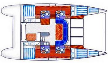 Nautitech-catamaran Nautitech 435 Layout 1
