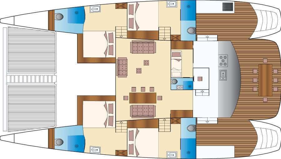 Custom Catamaran 70 Layout 1