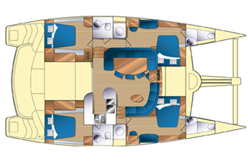 Prout-catamaran Prout 50 Layout 1