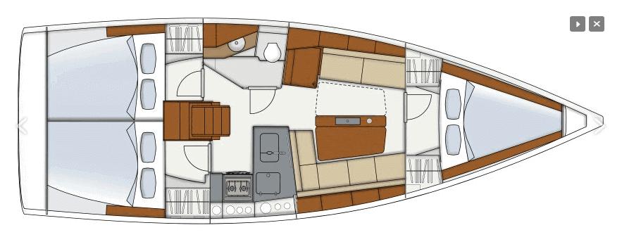 Hanse-yachts Hanse 345 Layout 1