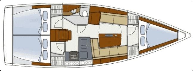 Hanse-yachts Hanse 345 Layout 2