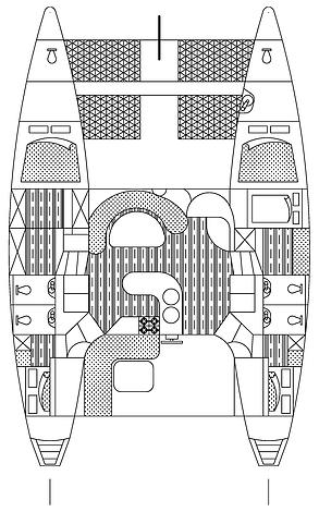 Custom Catamaran 43 Layout 1