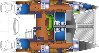 Knysna-catamaran Knysna 480 Layout 1