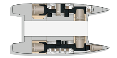 Nautitech-catamaran Nautitech 542 Layout 1