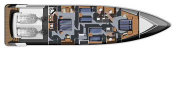Aicon-yachts Aiconfly 85 Layout 2