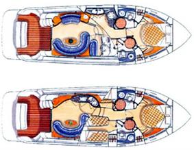 Azimut-yachts Azimut 42 Layout 1