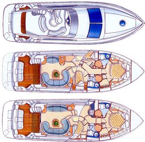 Azimut-yachts Azimut 46 Layout 1