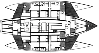 Custom Trimaran 32m Layout 1