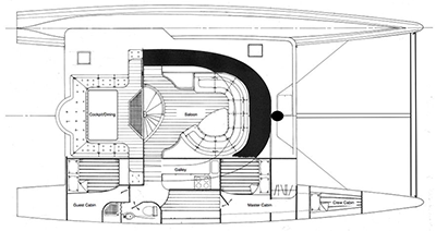 Custom Catamaran 53 Layout 1