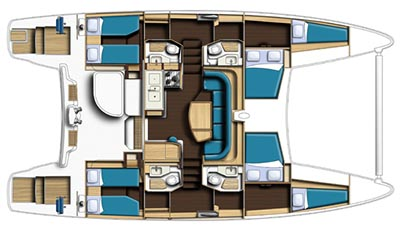 Catana-catamaran Catana 47 Layout 1