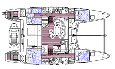 Catana-catamaran Catana 471 Layout 1