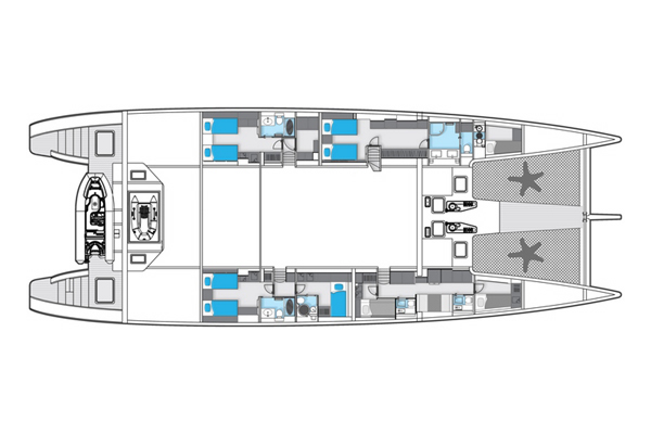 Sunreef-catamaran Sail 113 Layout 1