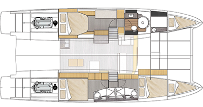 Fountaine-pajot Cumberland 47 Layout 1